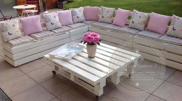 20 modles de salons de jardin fabriqus en bois de palettes - Table De Salon En Bois De Palette