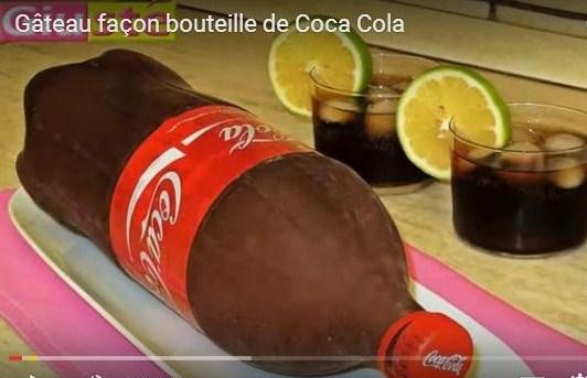 Tutoriel gâteau bouteille Coca Cola