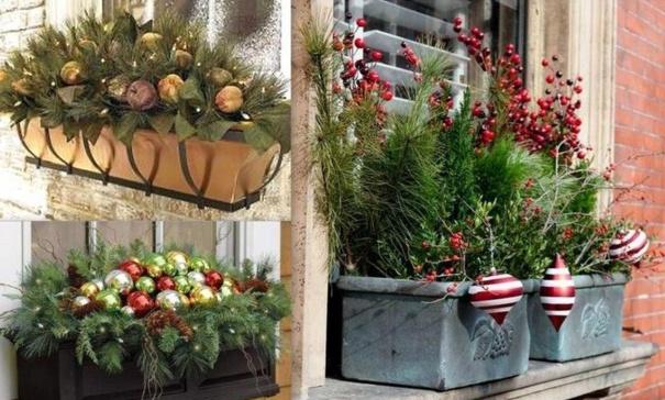 Faire une jardinière de Noël