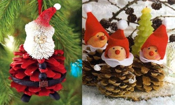 Faire des personnages en pommes de pin mod les et tutos - Decoration avec des pommes de pin ...