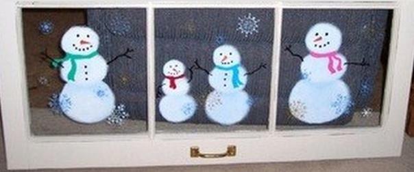 Peintures de Noël sur vitres et fenêtres, modèles et tutos