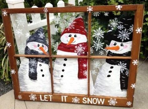 Peintures de no l sur vitres et fen tres mod les et tutos - Decoration fenetre exterieure ...