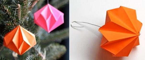 Faire des boules de no l diamant en papier les tutos - Boule de noel facile a faire ...