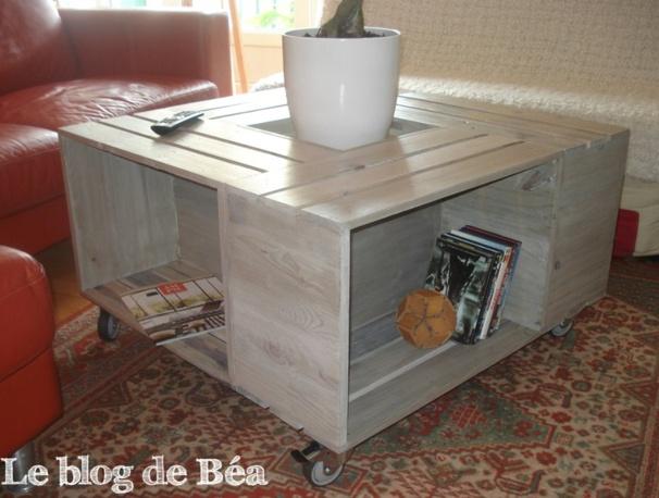 Tutoriels tables basses cagettes en bois