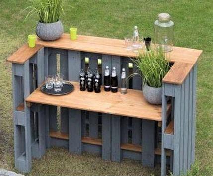Modèles bars extérieurs en bois de palette