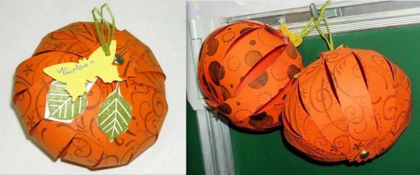 Tutoriels citrouilles en papier