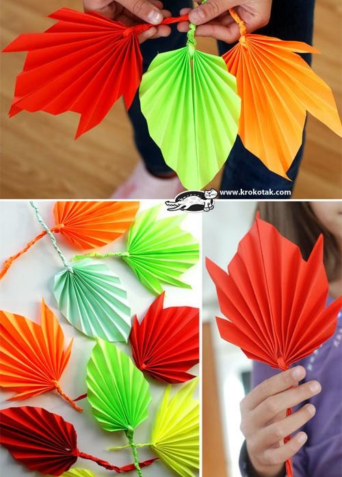 Tutoriels pliages feuilles d'automne