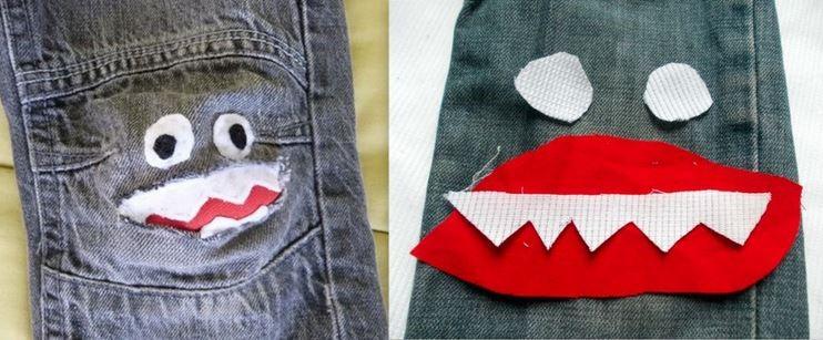 Astuce réparer un jean troué