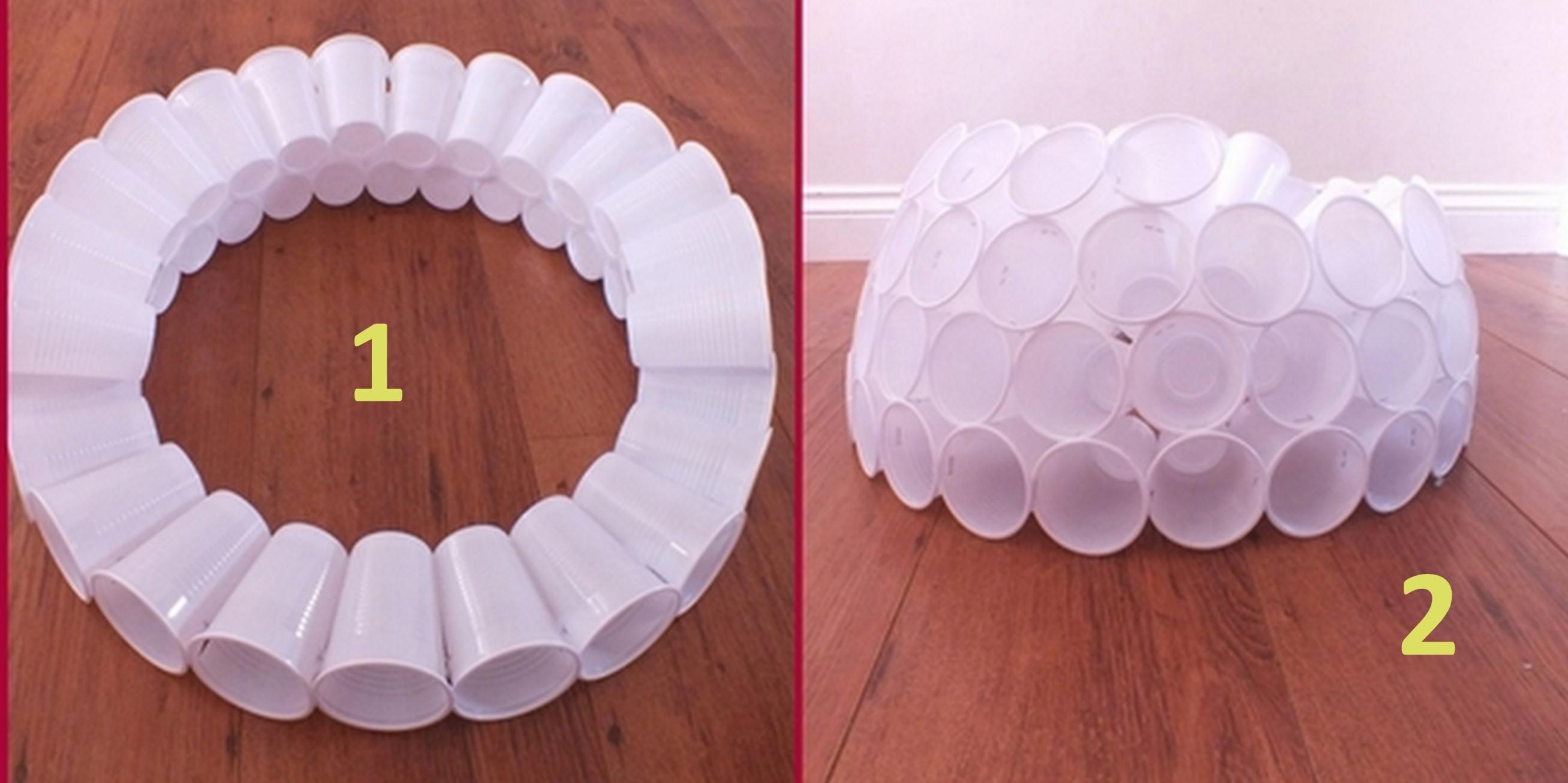 Поделки из пластиковых стаканчиков своими руками пошагово