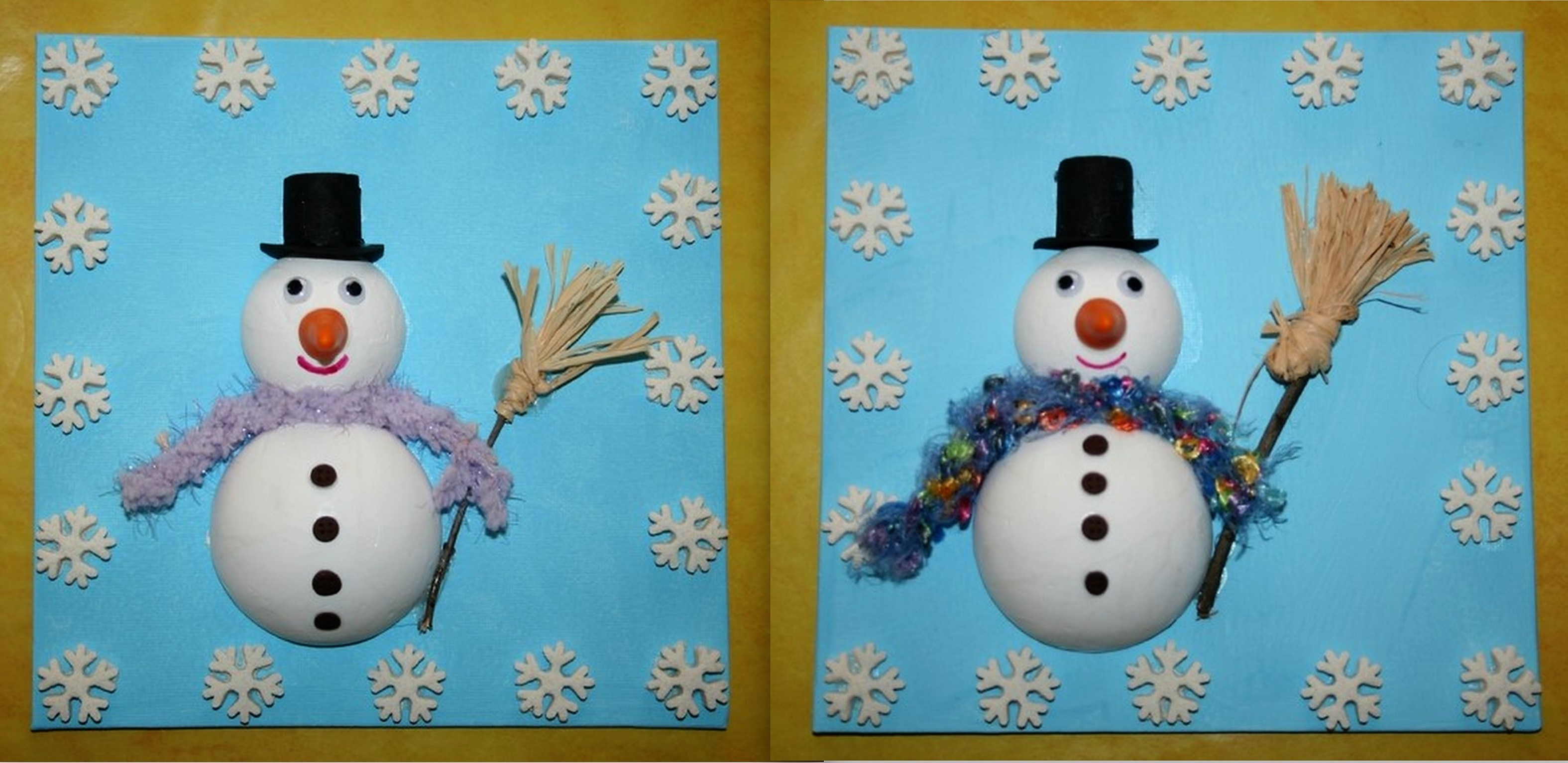 Faire des personnages de Noël en boules polystyrène