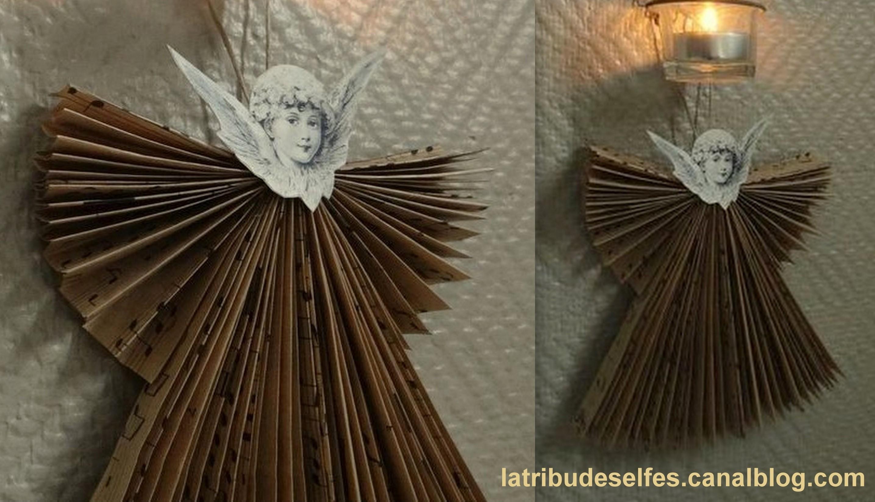 Faire des anges de Noël en pliage papier