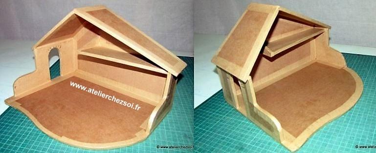 Faire une cr che de no l des mod les des tutos - Fabriquer une creche de noel en bois ...