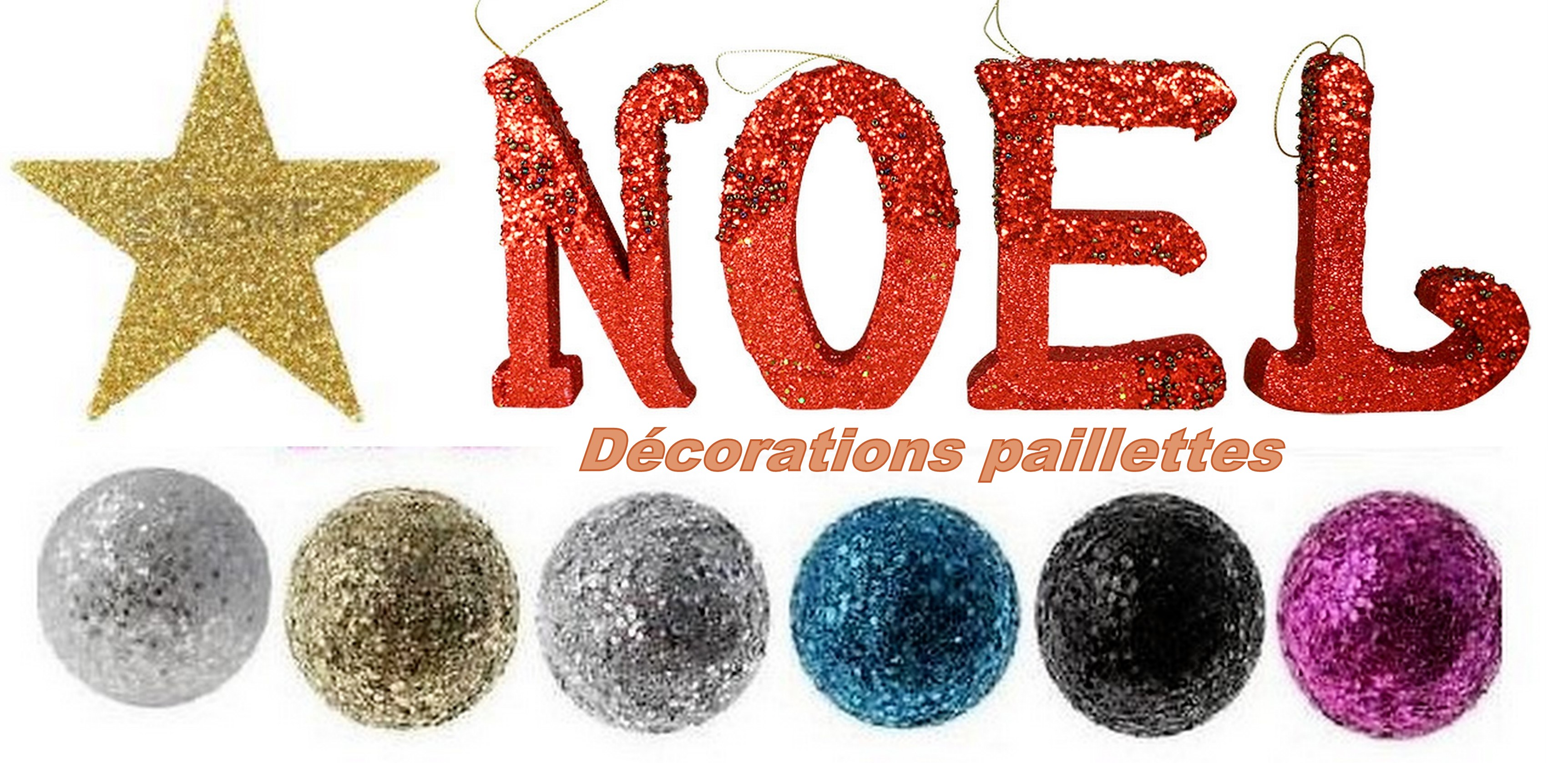 Faire des d corations de no l paillettes - Faire des decorations de noel ...