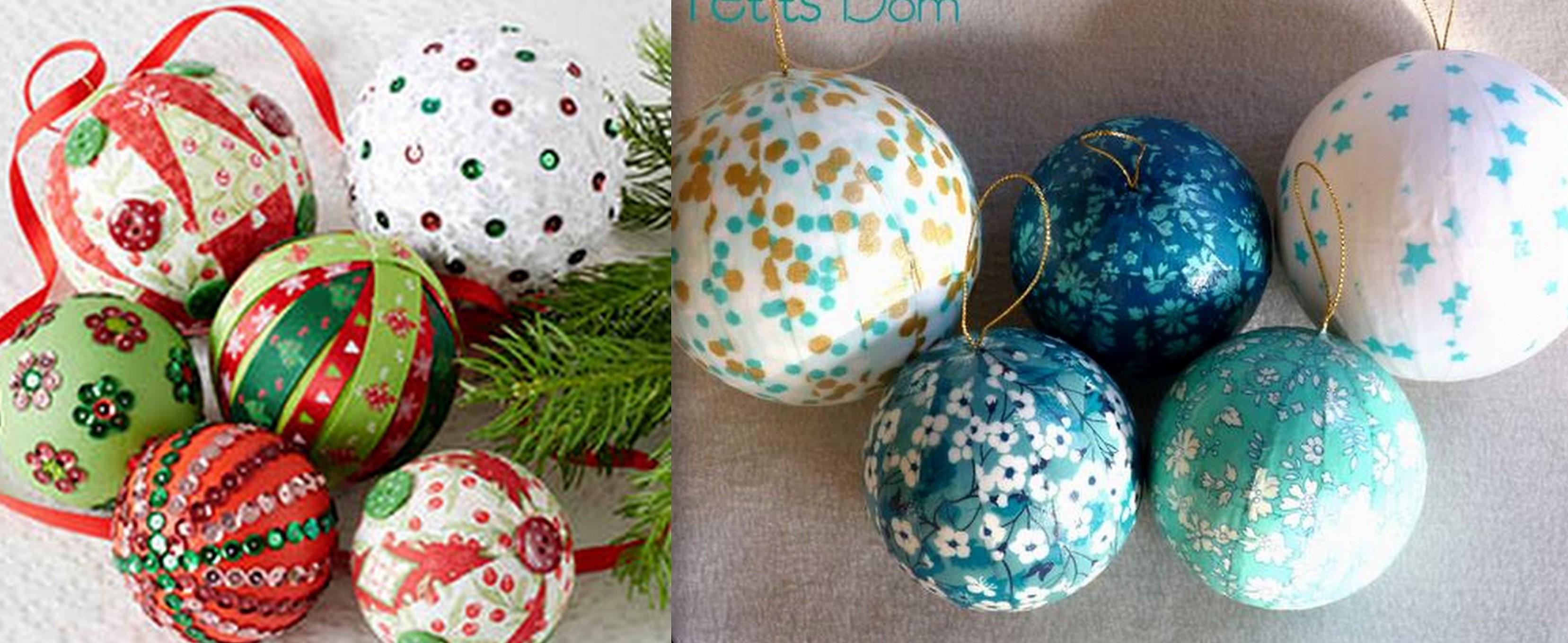 Comment Faire Des Boules En Papier décorer des boules polystyrène en boules de noël