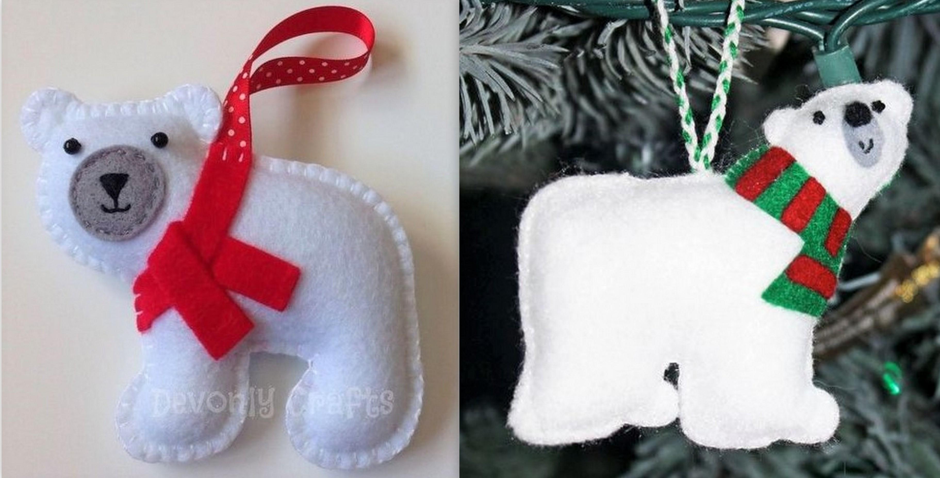 Modèles décorations Noël en feutrine