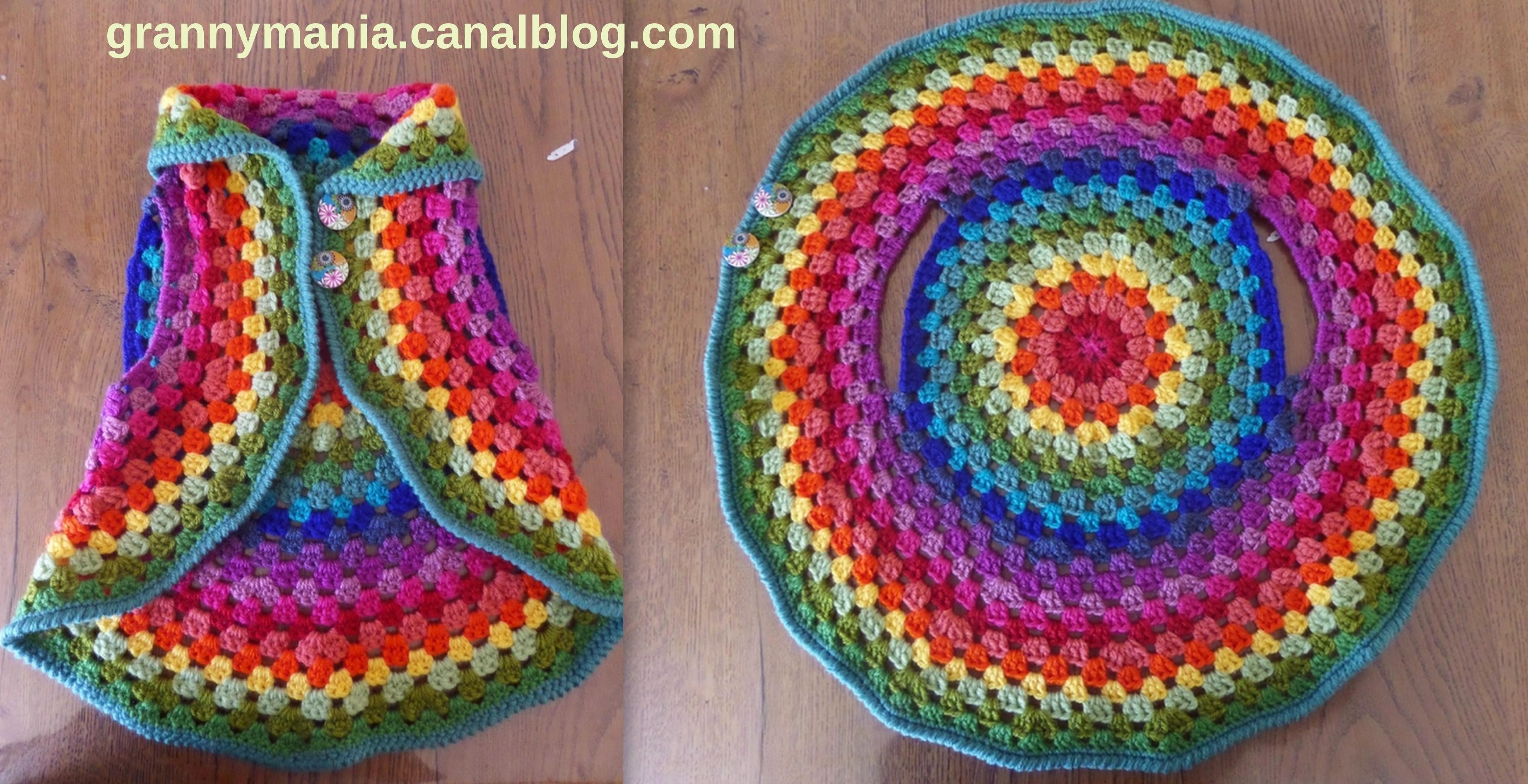 faire un gilet circulaire en laine ou une veste mandala au crochet page 3. Black Bedroom Furniture Sets. Home Design Ideas