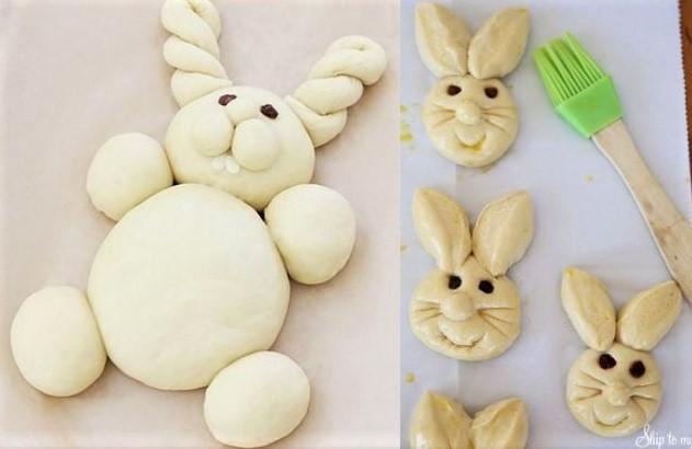 Recettes brioches lapins de Pâques
