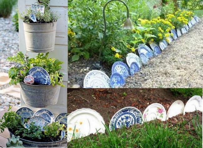 Recycler sa vaisselle au jardin