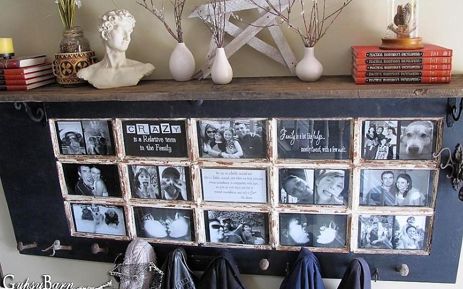 Cadres photos originaux faits avec de la récup