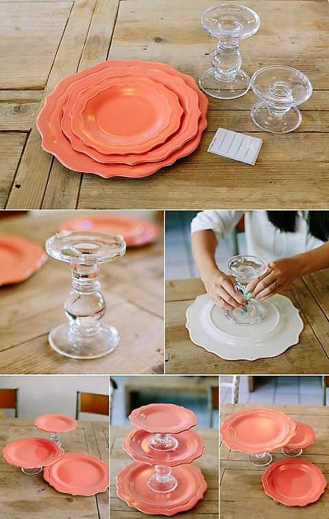 Faire un présentoir à gâteaux