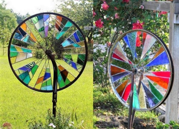 Id es recycler des roues de v lo page 2 - Decoration jardin velo ...