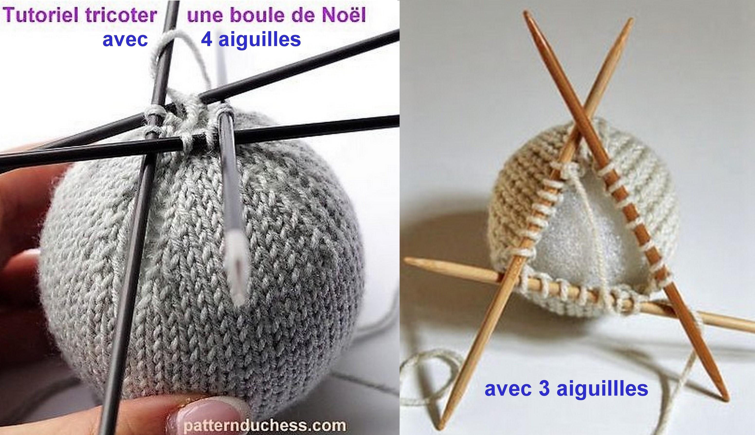 Tricoter des boules de Noël, modèles et tutos