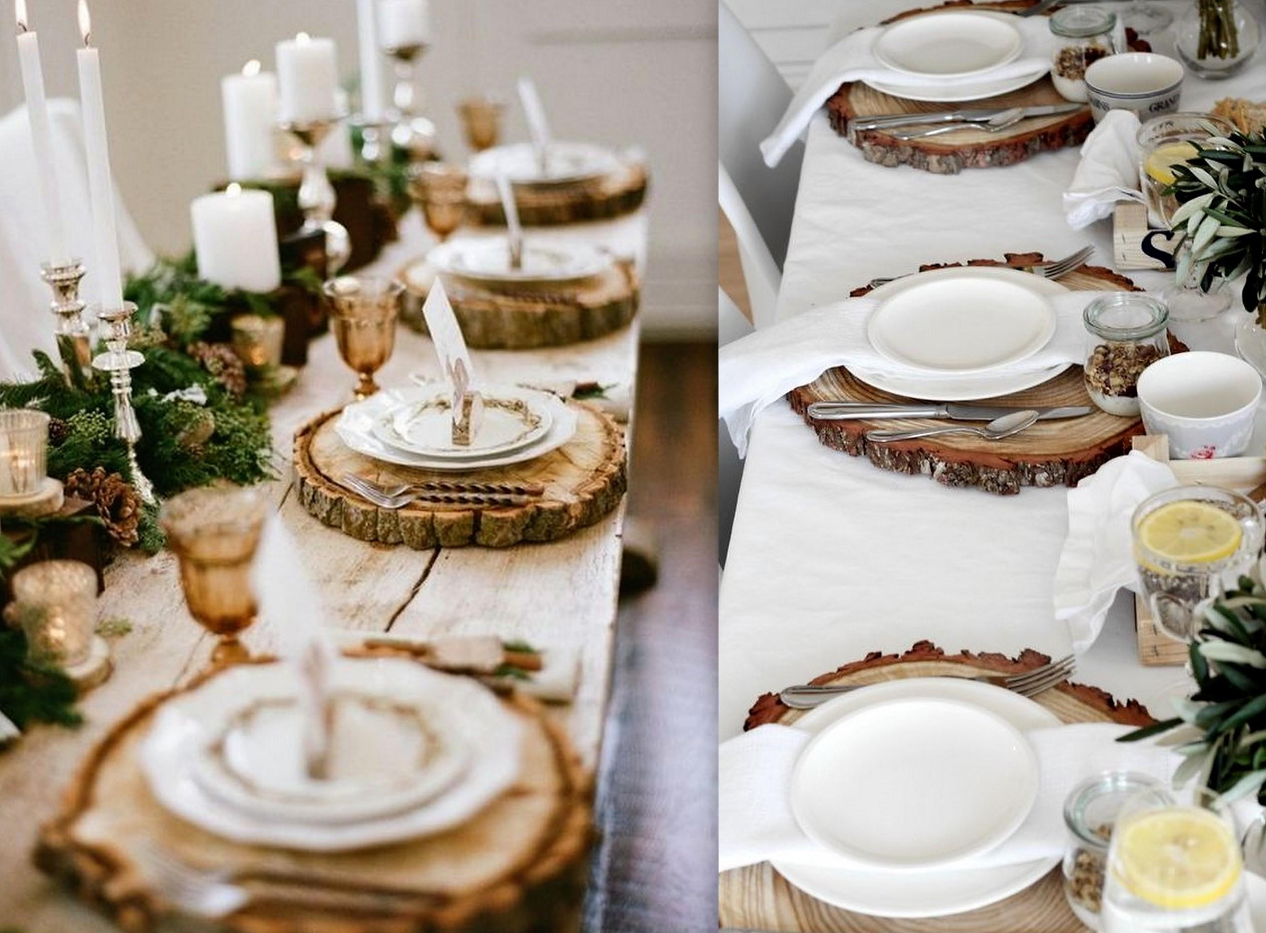 Décorations de Noël rustiques et naturelles