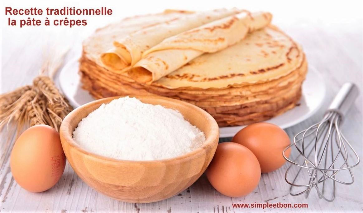 Recette pâte à crêpes traditionnelle