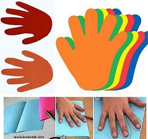 Créations découpages mains en papier