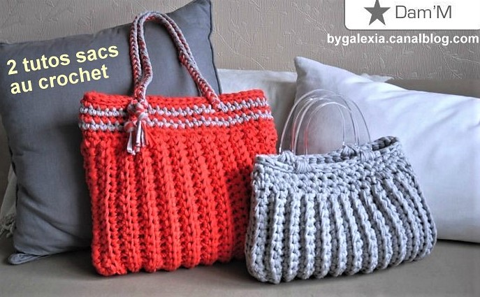 3 tutos faire un sac au crochet