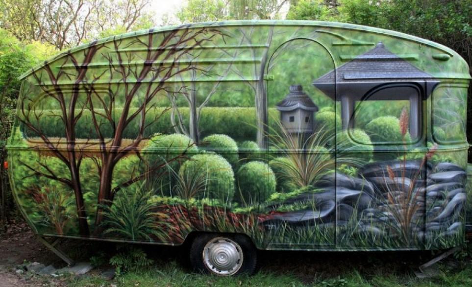 jolies caravanes d cor es peintures originales. Black Bedroom Furniture Sets. Home Design Ideas