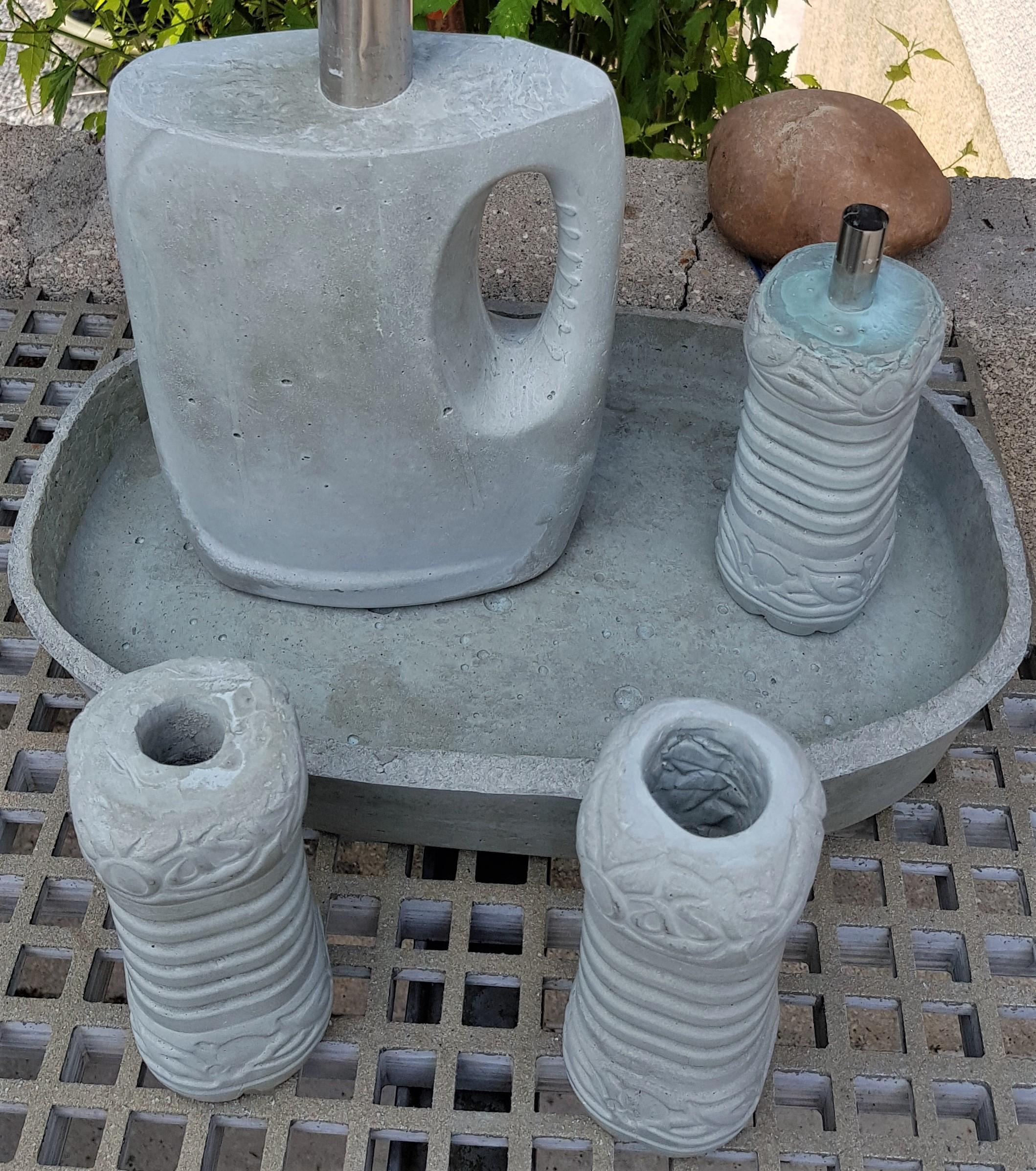 Créations béton créatif, moulages en ciment
