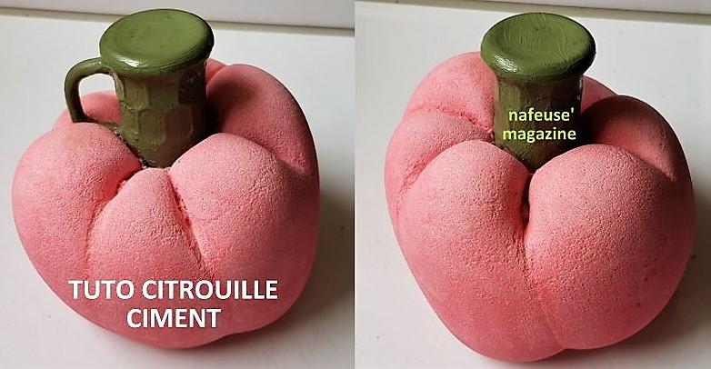 Tutoriel citrouille en ciment