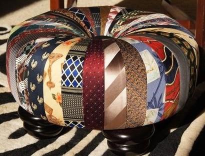 Créations cravates recyclées