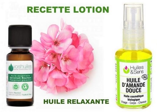 Recette lotion huile relaxante anti-stress