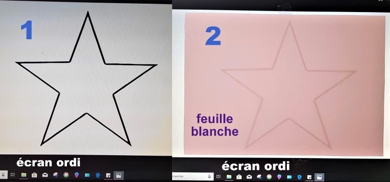 Astuce pour dessiner et découper le gabarit une étoile