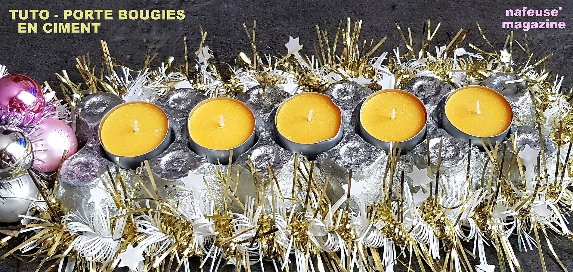 TUTO porte bougies en ciment