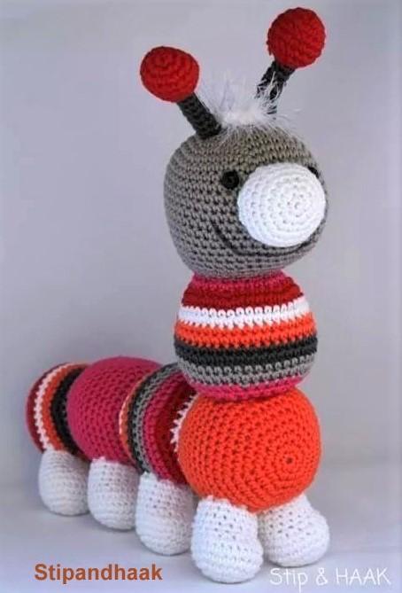 TUTO chenille au crochet