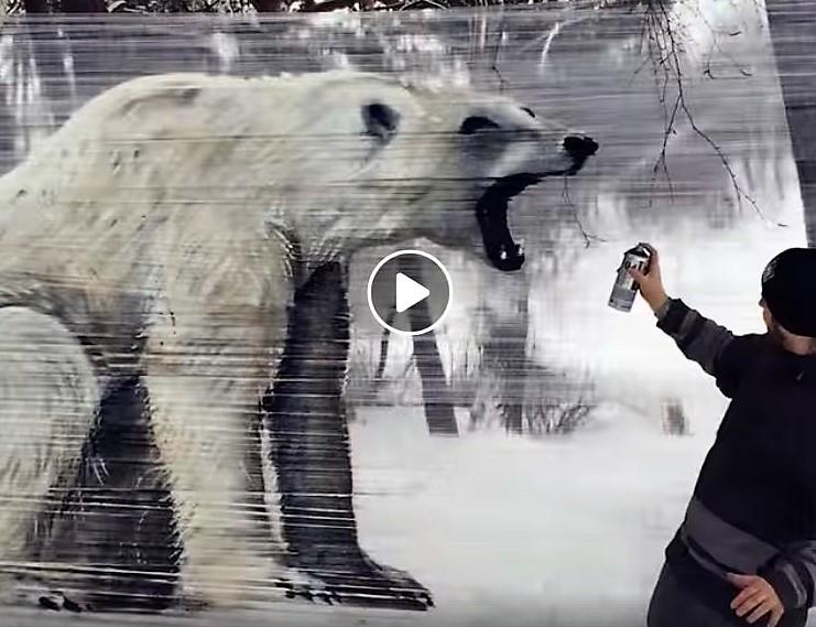 Peintures animalières géantes sur films plastique