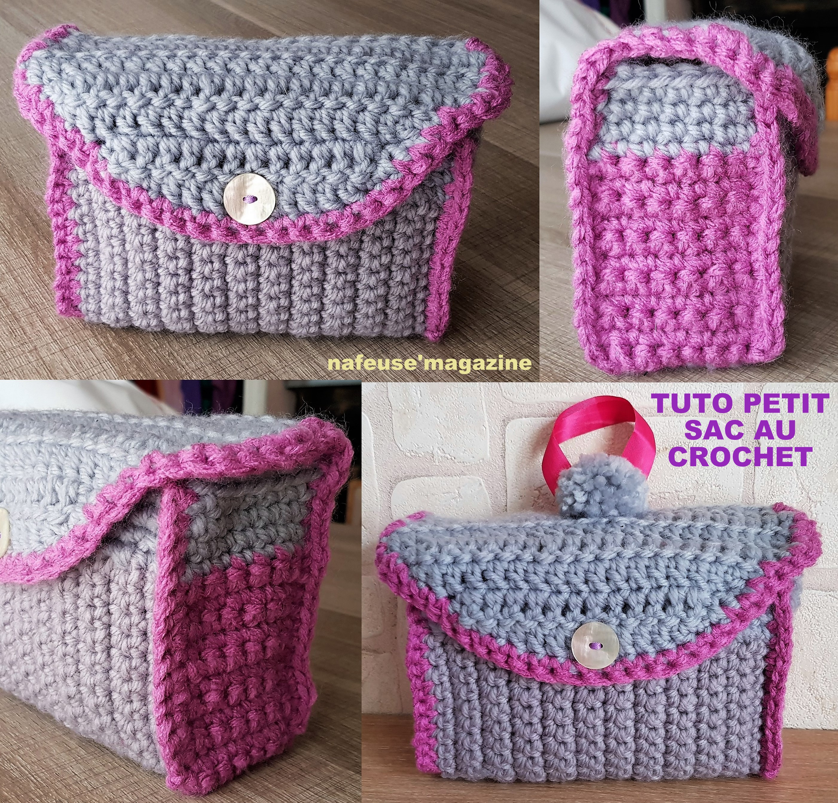 Tutoriel sac trousse maquillage au crochet