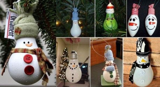 Ampoules recyclées en déco suspendue !