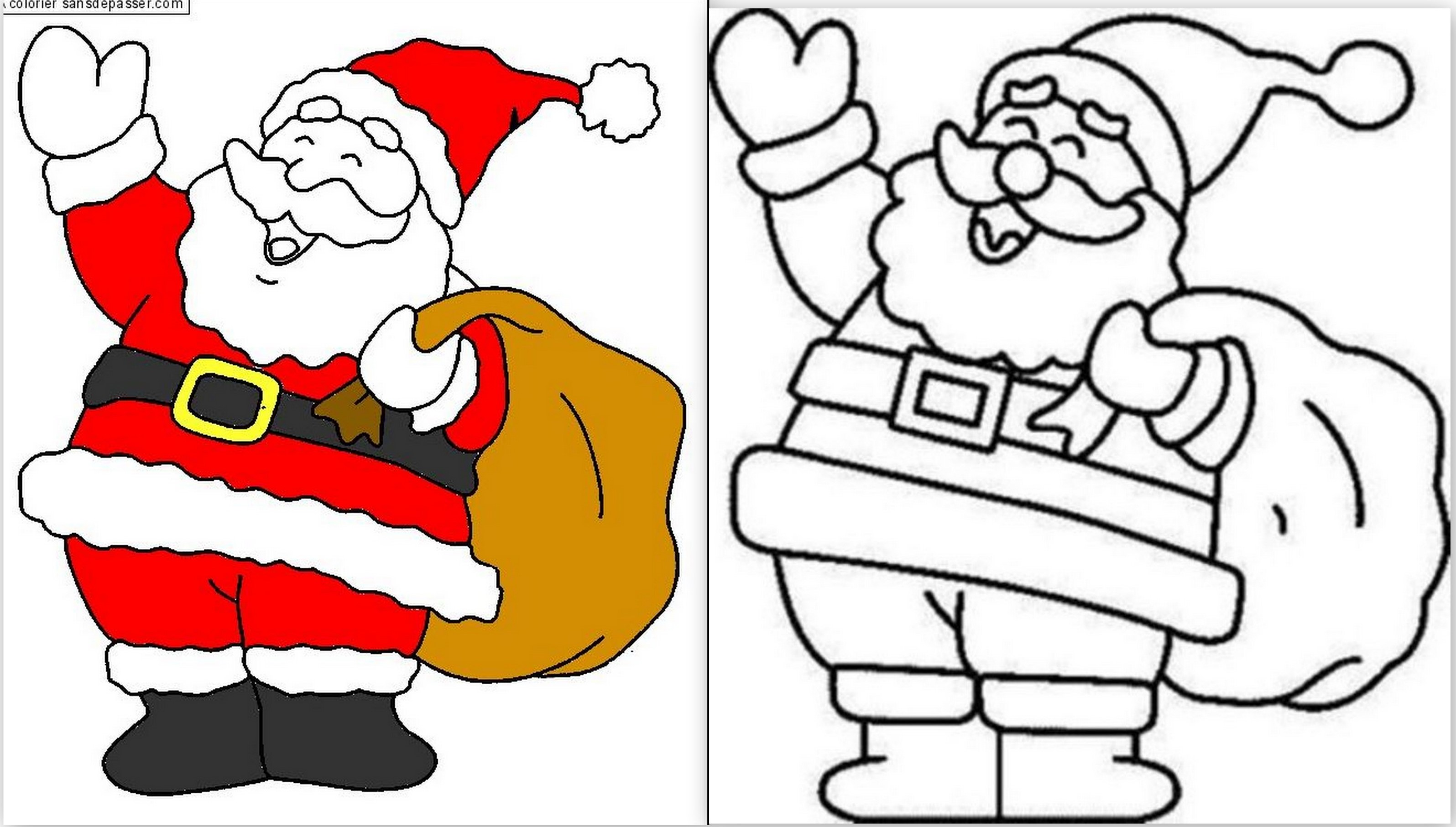 Mod les de p re no l dessiner colorier ou d couper - Dessins pere noel ...