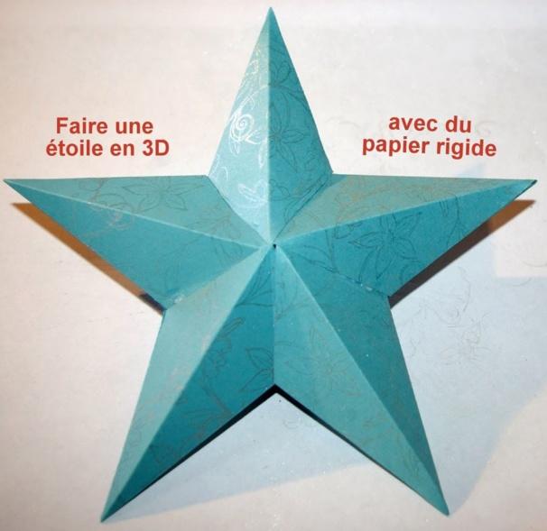 Faire une étoile de Noël en relief, en 3 D !