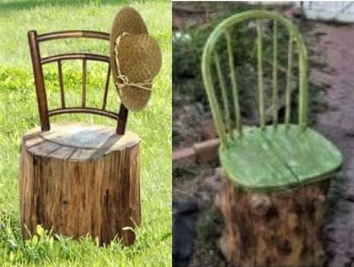 Idées recyclages et décorations souches d'arbres