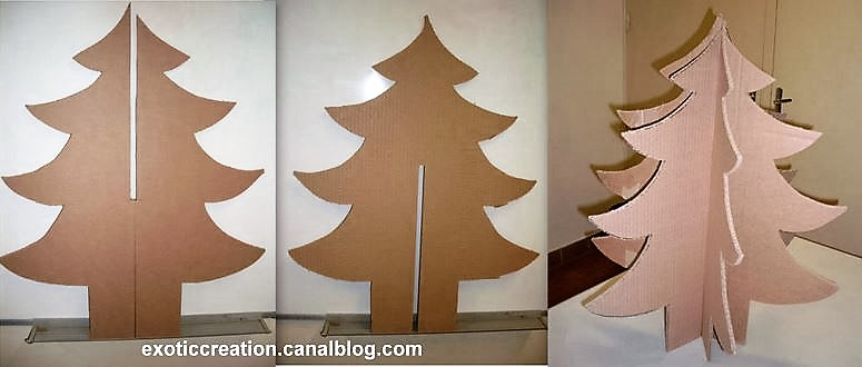 fabriquer son sapin de noel en carton maison design. Black Bedroom Furniture Sets. Home Design Ideas