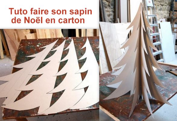Fabriquer sapin noel en carton