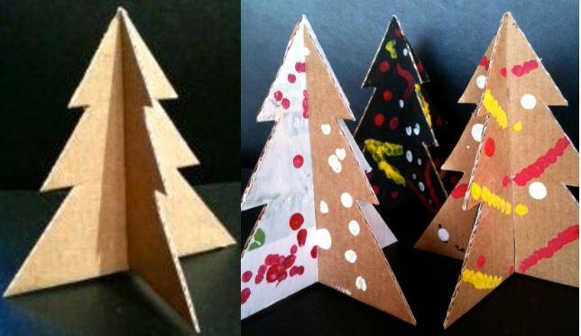 Faire un Sapin de Noël en carton, les tutos