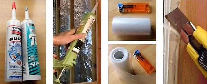 Comment isoler une porte avec du silicone !