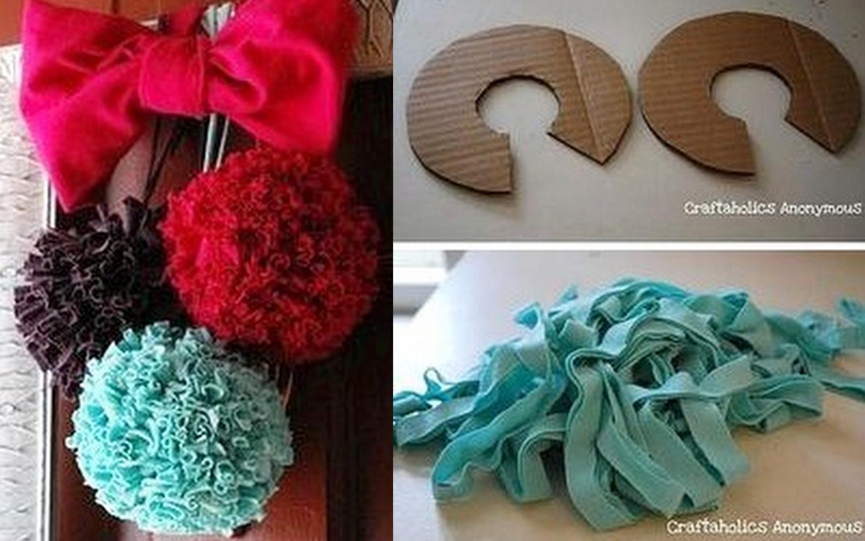 Comment faire des boules pompon en tissu !