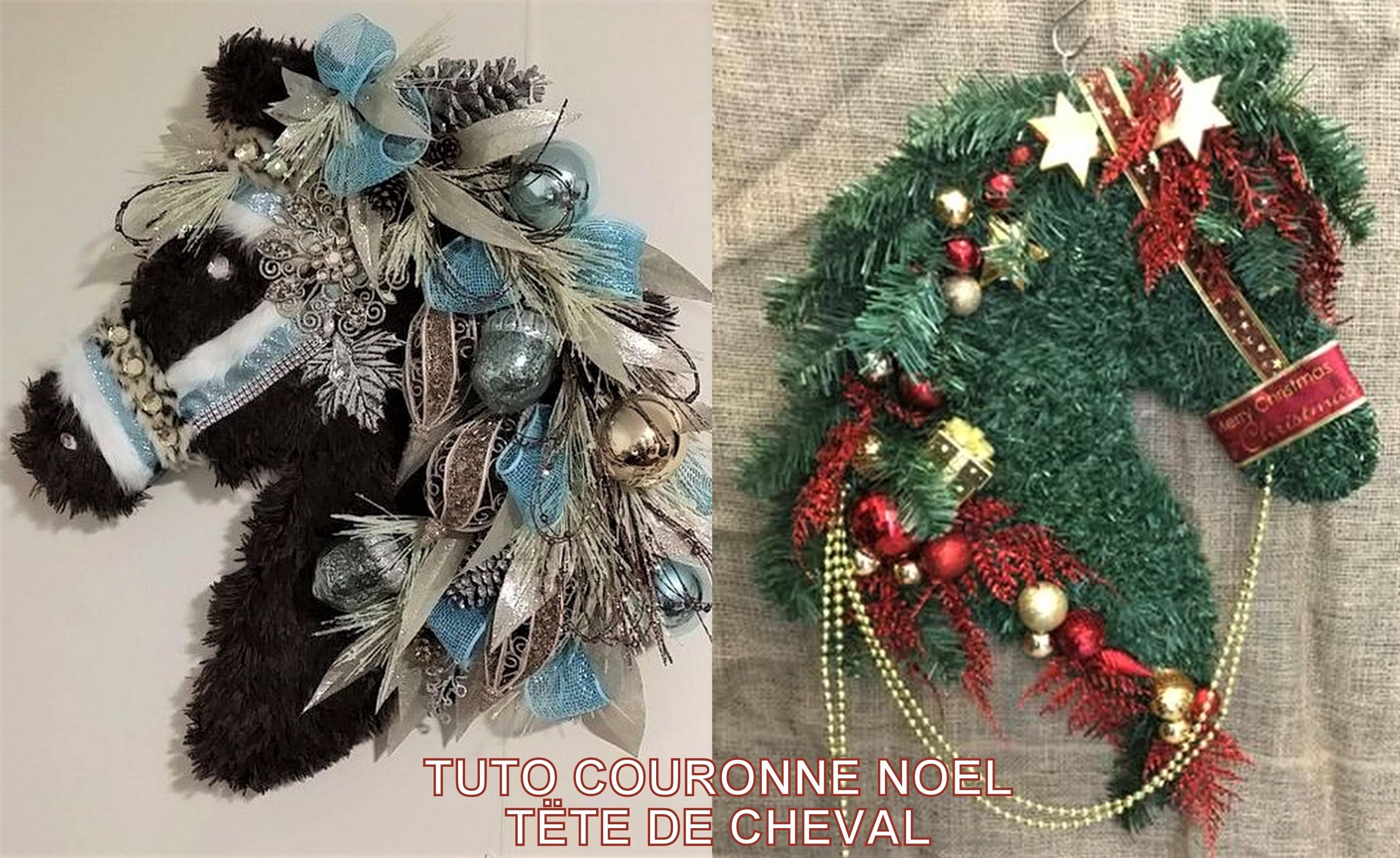 Couronne De Porte Noel Design tuto couronne noël tête de cheval